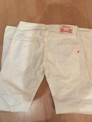 Ungetragene weiße Replay Jeans