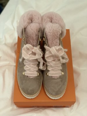 AGL Ankle Boots pink-beige suede