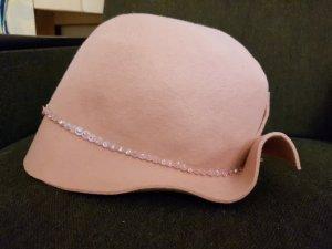 Cappello in feltro rosa