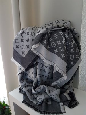 Ungetragener Original Louis Vuitton Mongramm Denim Schal