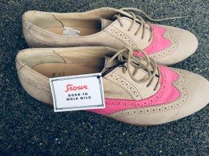 Sioux Mocasines beige claro-rosa