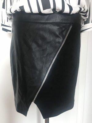 Morgan Falda de cuero de imitación negro Imitación de cuero