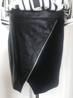 Morgan Jupe en cuir synthétique noir faux cuir