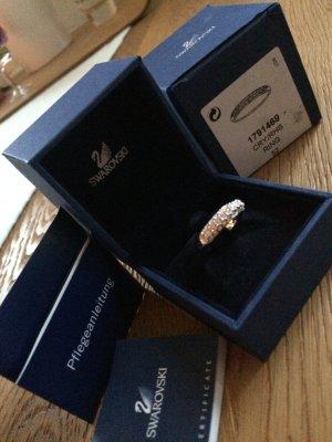 Ungetragener Swarovski Ring Silber/Kristallglas in Größe 52
