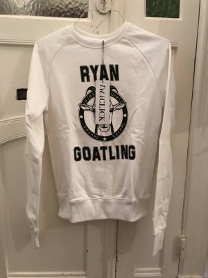Sweatshirt blanc coton