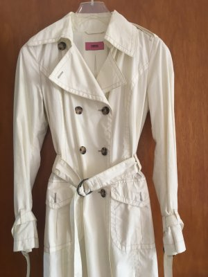 Ungetragener weißer Trenchcoat von Cinque, Größe 34, 100% Baumwolle