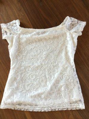 Dorothy Perkins Top épaules dénudées blanc