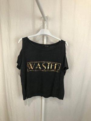 Tally Weijl Shirt antraciet-zandig bruin