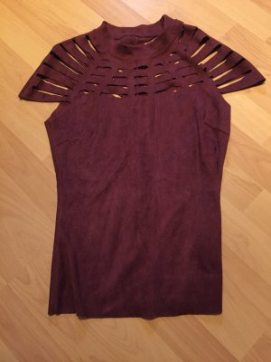 Mesh Shirt bordeaux-brown red