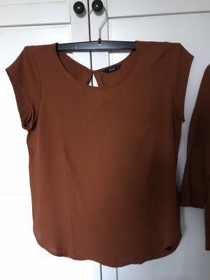 Only Oversized Shirt cognac-coloured