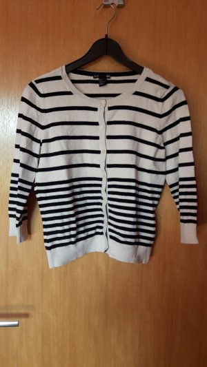 H&M Shirt Jacket white-black