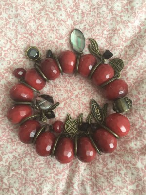 Bijoux de bras rouge foncé