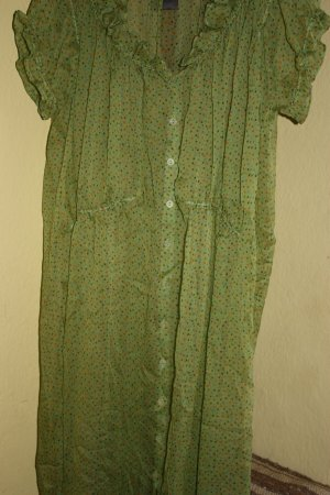 Dress lime-green silk
