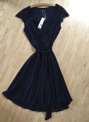 Esprit Chiffon jurk donkerblauw