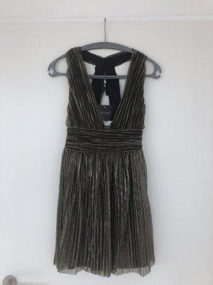 Topshop Mini Dress black-gold-colored