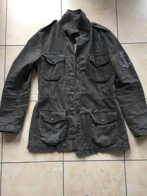 Ungewöhnliche Jeans-Jacke von IQ, Gr. 38/40