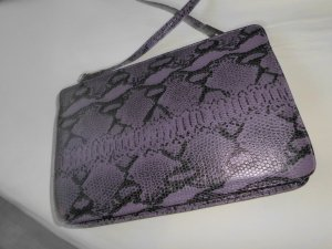 Carry Bag grey violet leather