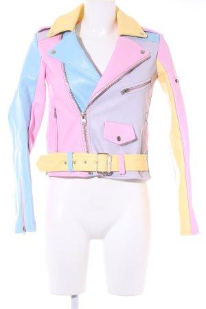 Unif Kunstlederjacke mehrfarbig extravaganter Stil