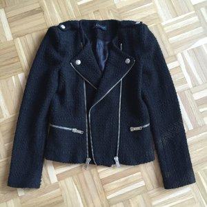 Zara Veste noir-argenté