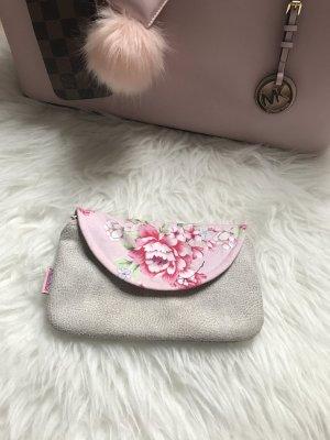 Unikat Clutch Portmonee Geldbörse grau Pink