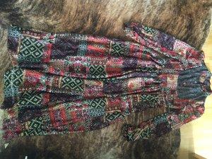 Unikat: selbstgenäht Maxikleid Kleid Patchwork-Optik Boho Ethno Hippie
