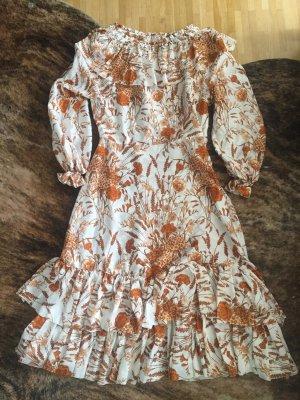 Unikat: selbstgenähtes Kleid Dress Seide Silk Rüschen Ruffles Ethno Folklore