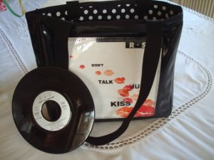Unikat-Tasche mit Original Single - don`t talk just kiss