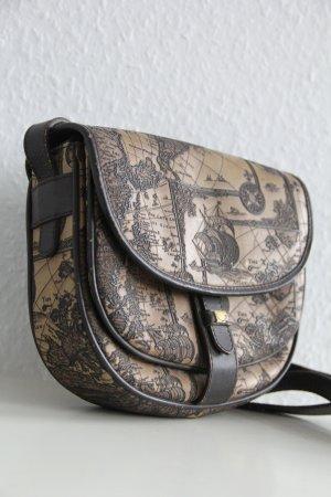 Unikat Vintage Tasche mit maritimer Karte in Relief