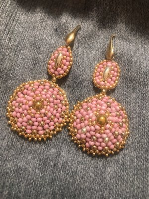 Unikate Handarbeit Ohrgehänge Rose Golden Luxus hoher Neupreis wie miguel ases