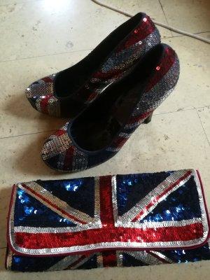 Union Jack Heels Pumps Clutch