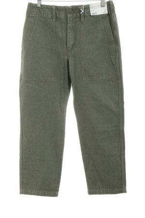 f06ce29626c4 Uniqlo 7/8 Jeans khaki Casual-Look