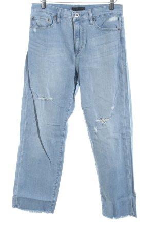 Uniqlo Jeans a 7/8 azzurro stile casual