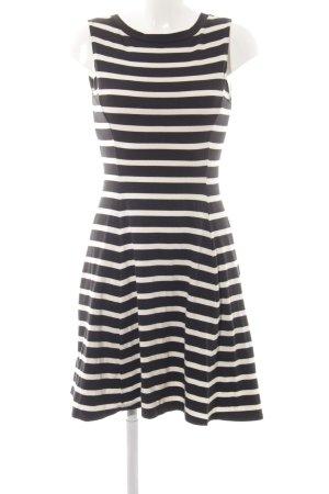Uniqlo A-Linien Kleid schwarz-weiß Streifenmuster Casual-Look