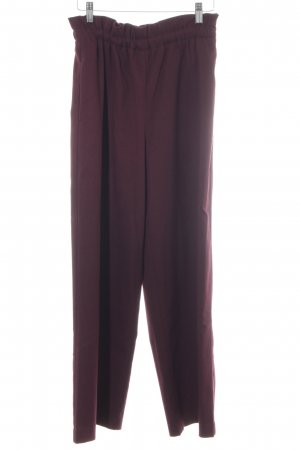 Uniqlo Bundfaltenhose braunviolett Casual-Look
