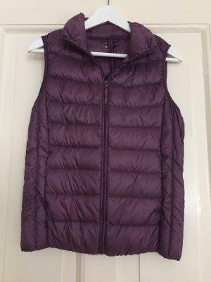 Uniqlo Down Vest brown violet mixture fibre