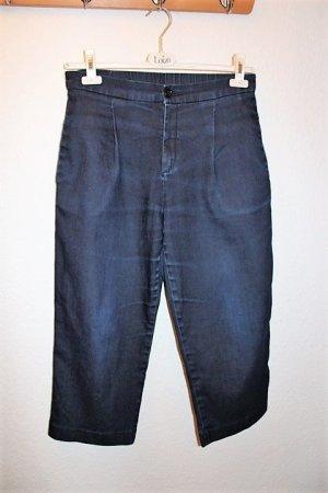 Uniqlo Pantalone culotte blu scuro Cotone