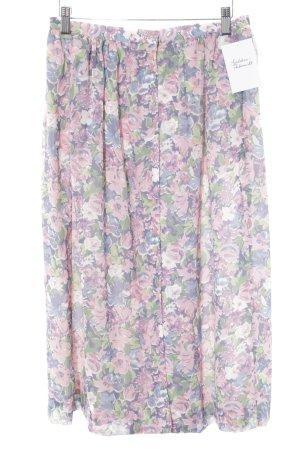 Uniqlo Jupe évasée motif de fleur style romantique
