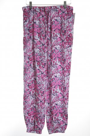 Uniqlo Harem Pants magenta-dark violet flower pattern hippie style