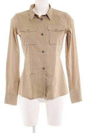 Uniqlo Hemd-Bluse beige Business-Look