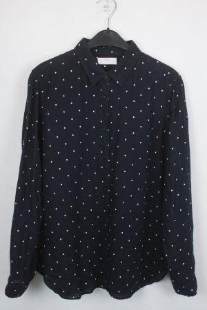 Uniqlo Hemd Gr.M schwarz mit weißen Punkten (18/4/396)