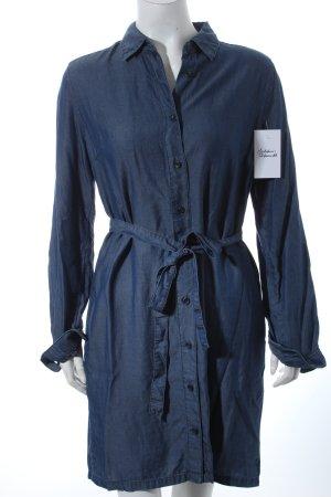Uniqlo Hemdblusenkleid dunkelblau Casual-Look