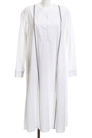 Uniqlo Hemdblusenkleid weiß Streifenmuster extravaganter Stil