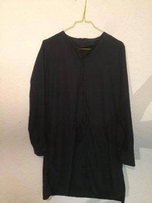 Uniqlo Midi-jurk donkerblauw-leigrijs