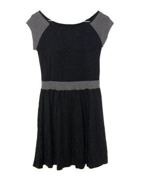 Uniqlo Kleid eingebauter BH Schwarz Grau XS 34