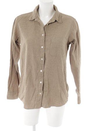 Uniqlo Langarmhemd beige-camel Street-Fashion-Look