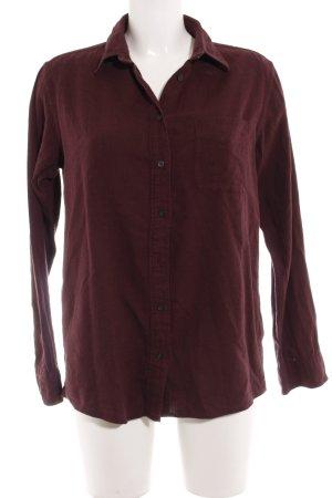 Uniqlo Langarmhemd purpur-schwarz Street-Fashion-Look