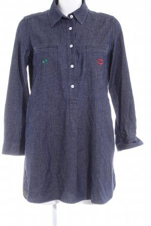Uniqlo Long-Bluse graublau Jeans-Optik