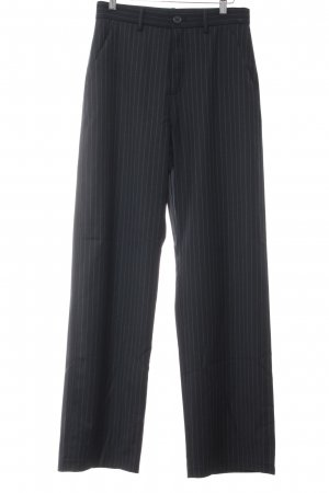 Uniqlo Marlene Trousers black pinstripe business style