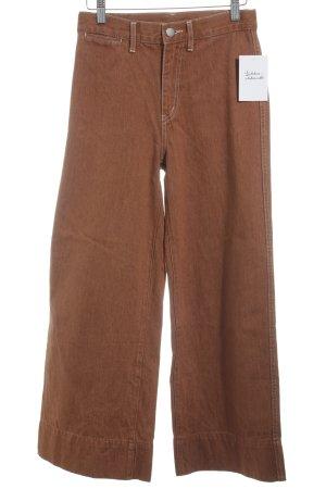 Uniqlo Jeans large rouille style décontracté