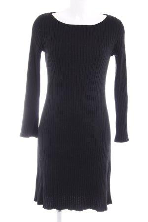 Uniqlo Midi-jurk zwart casual uitstraling